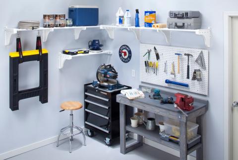 Garage Closet Shelves