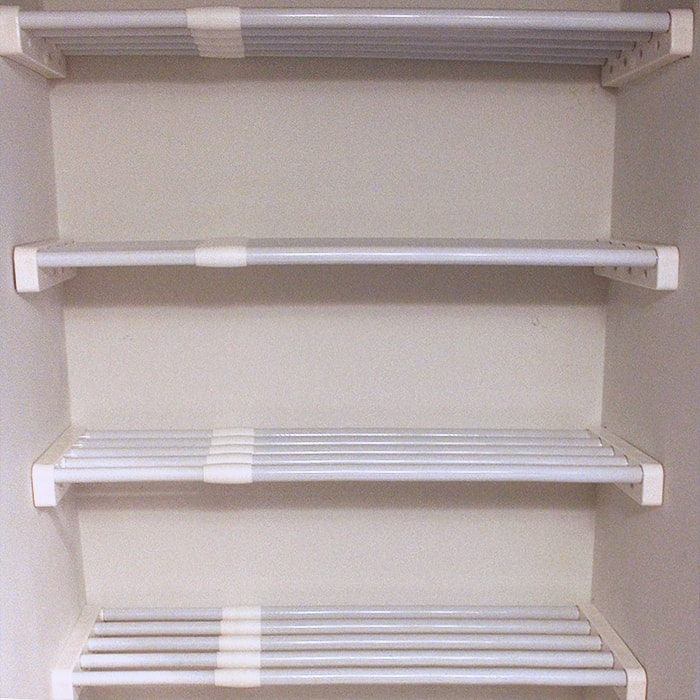 ez-shelf-28-48-expandable-Linen-closet-Organizer-Kit-white-main