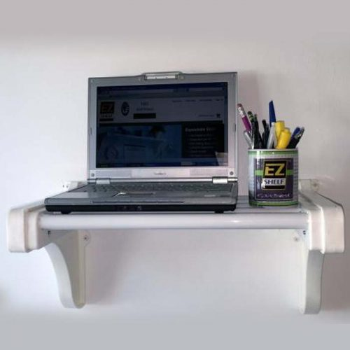 ez-shelf-20inch-Wide-Computer-Printer-Stereo-Linen-Book-1-Shelf-white-main